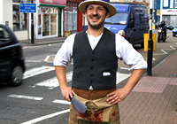 Chris Yapp As Aldred Daw Collard, The Poet Butcher Of Bedminster(photo: Zuleika Henry)
