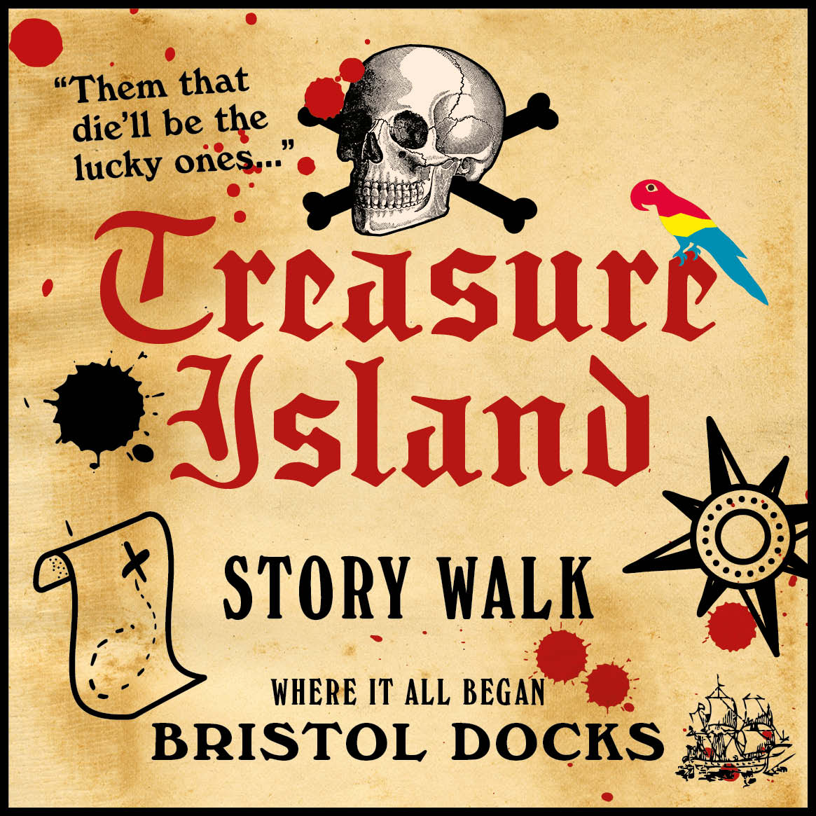 Treasure Island Story Walk Bristol Docks
