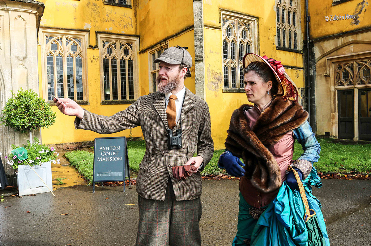 Gerard Cooke and Kirsty Cox play Greville & Emily Smyth in Show of Strength's THE MANSION THROUGH TIME at Ashton Court 25-27 June 2021