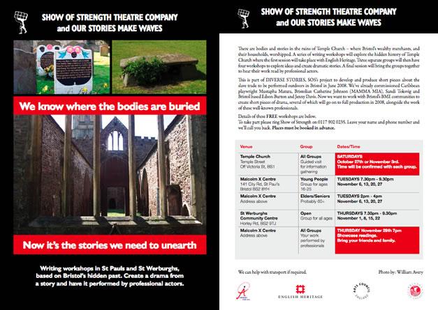 Diverse Stories Workshops Flyer
